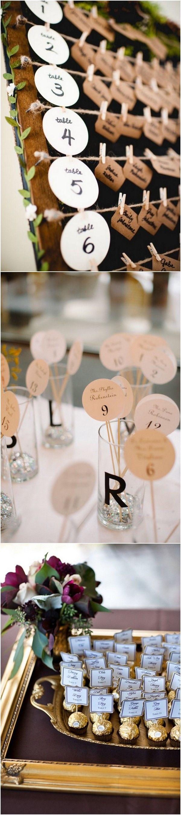 Creative Wedding Escort Card Display Ideas to Love Card