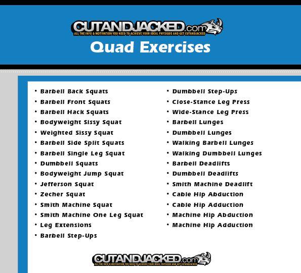 Quad exercises fitness stuff pinterest