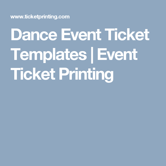 dance event ticket templates event ticket printing prom 2k18