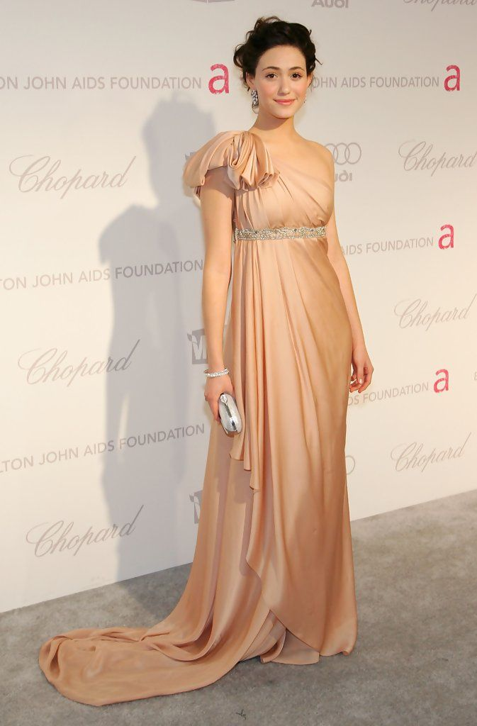 Emmy Rossum One Shoulder Dress