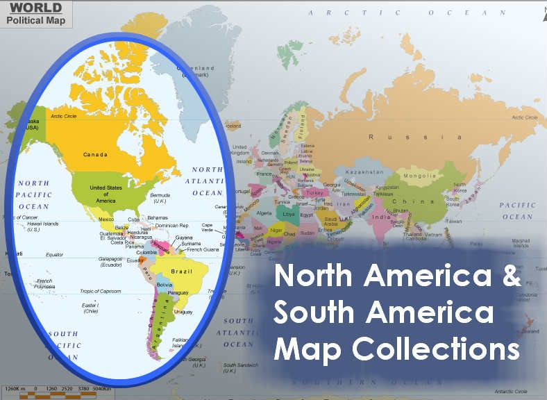 North America South Map Collections Resources On: Map Of South And North America At Usa Maps