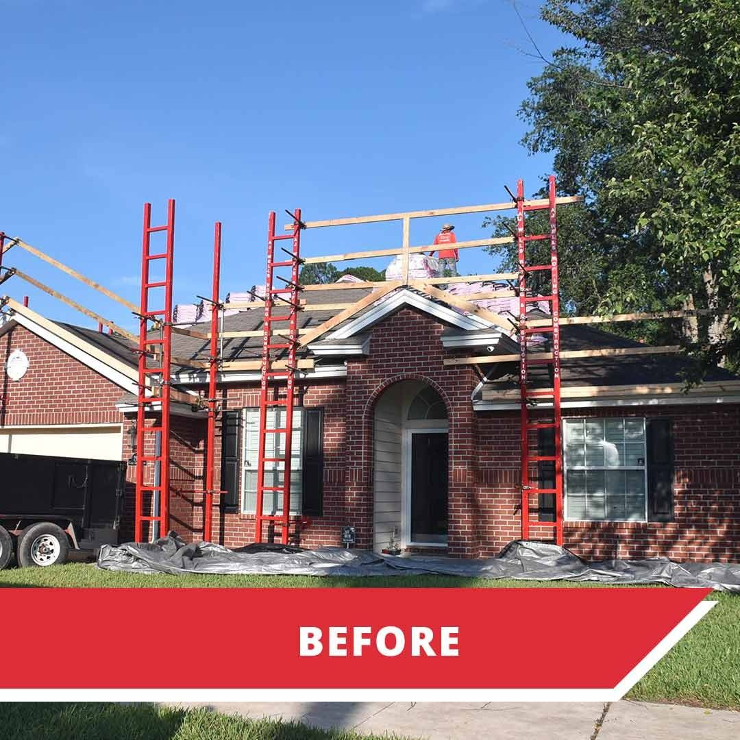 Before after in 2020 roofing contractors roof