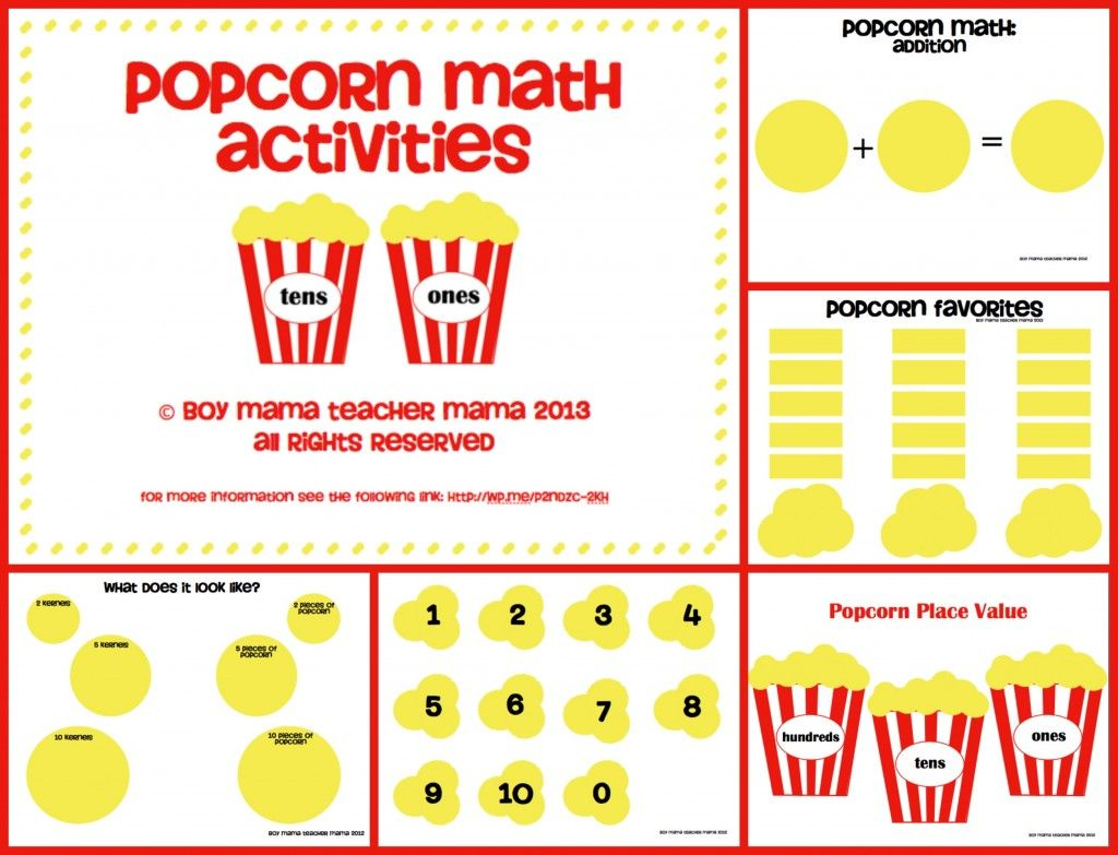 Teacher Mama Popcorn Math Activities