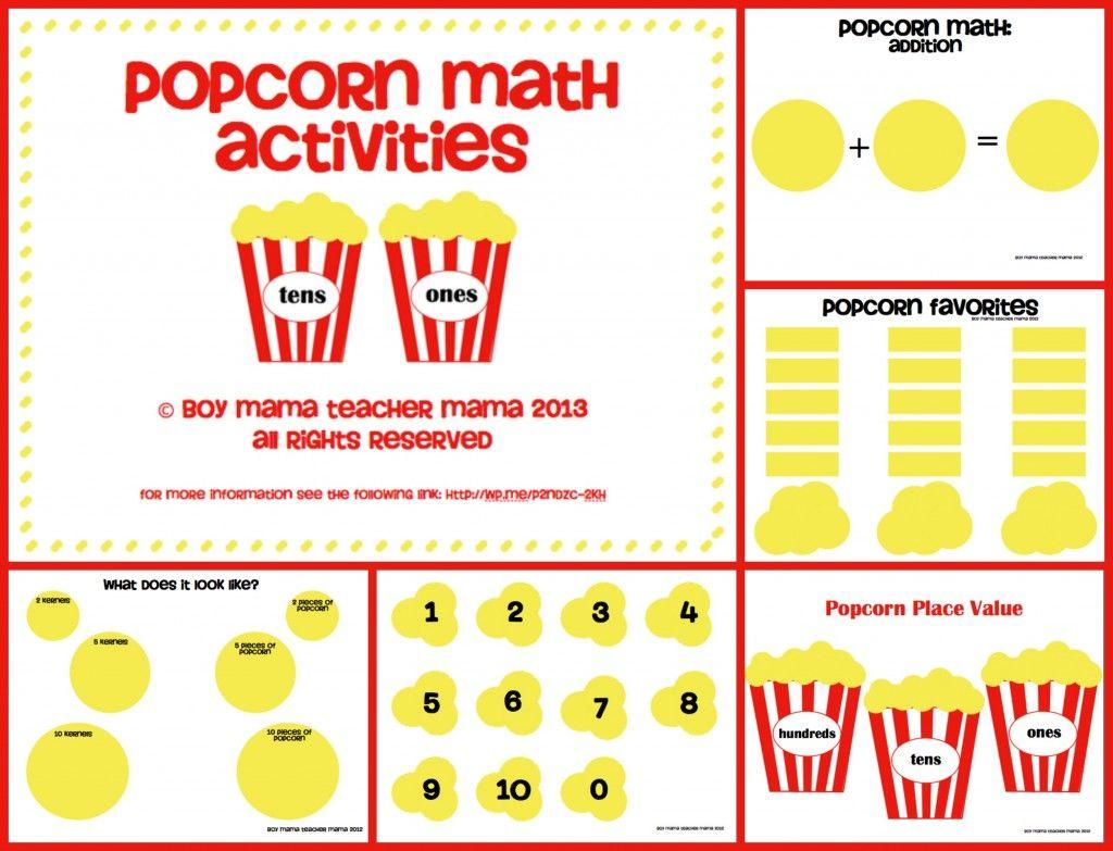 Teacher Mama Popcorn Math Activities