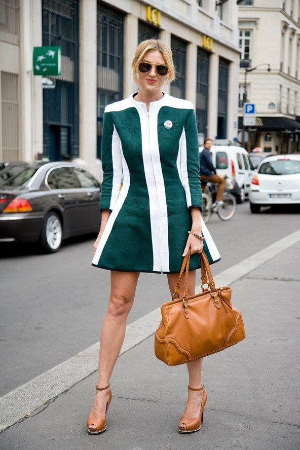 """Anna Barr, editor  """"My dress is by Aganovich. I'm also wearing BCBG shoes and a Michael Kors bag."""" Photo By Dvora"""