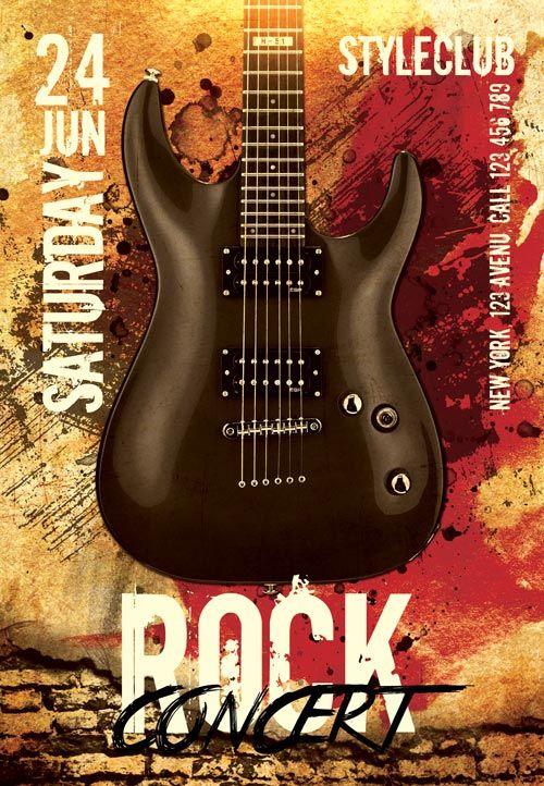 Pin By William Martnez On Flyer Pinterest Free Rocks Concert