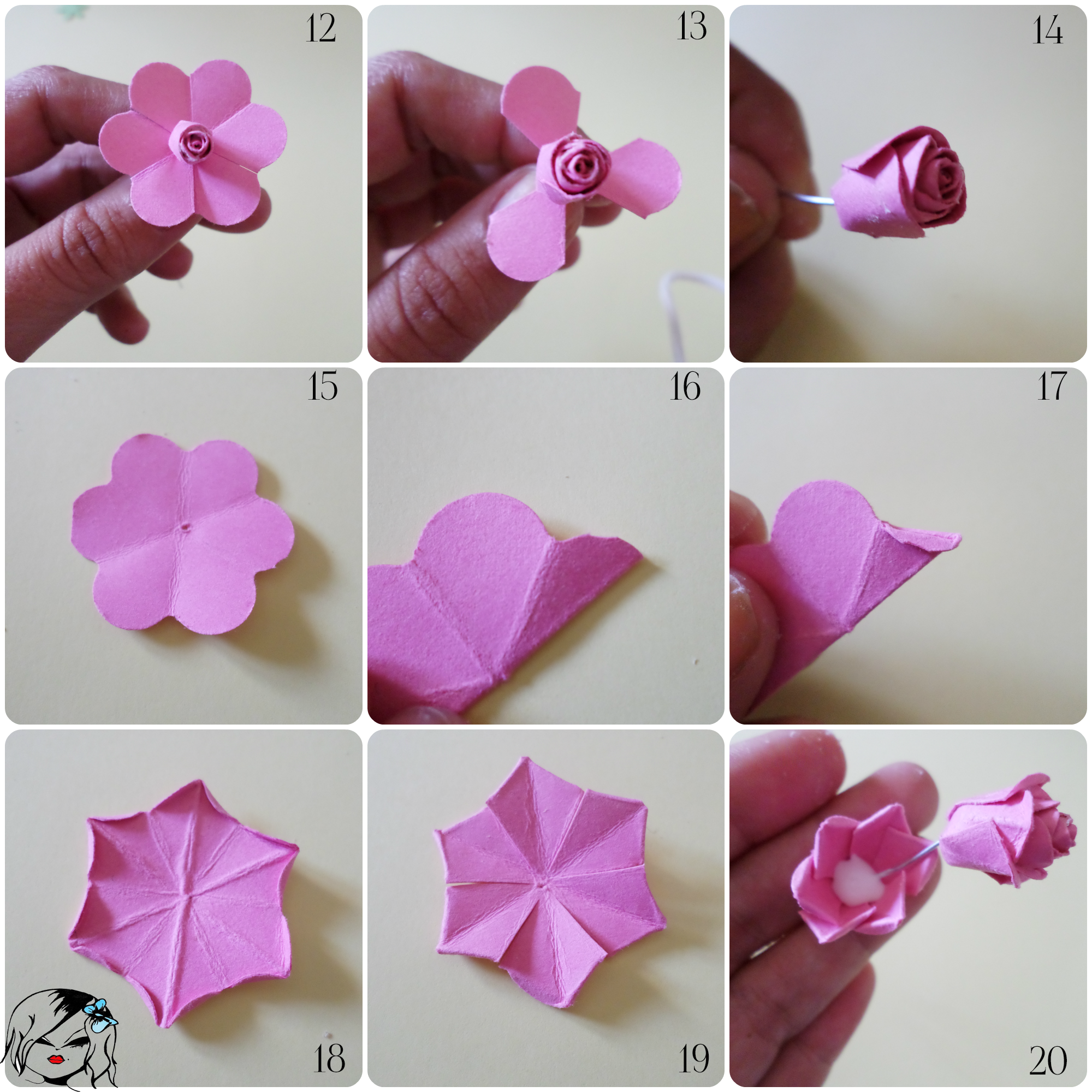 Como doblar el papel para hacer una flor de papel buscar - Como se hacen flores de papel ...