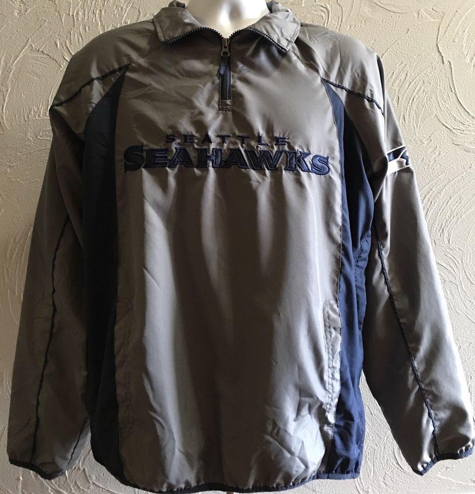 reputable site 4ea24 c6d85 NFL Apparel Seattle Seahawks 1 2 Zip Pullover Wind Rain ...
