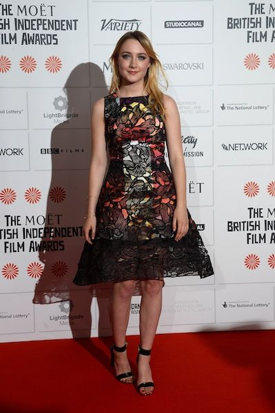 Saoirse Ronan in Peter Pilotto at the British Independent Film Awards