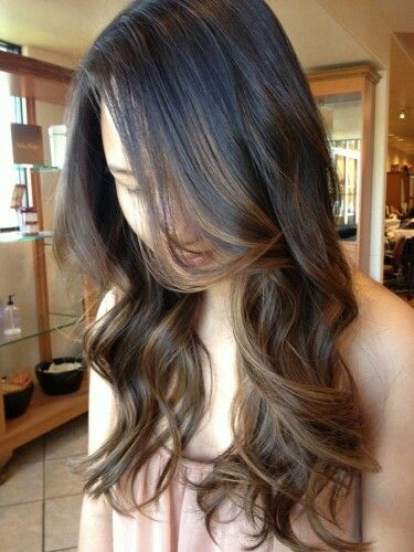 Baylage On Dark Hair Hair Makeup Balayage Hair Balayage Hair