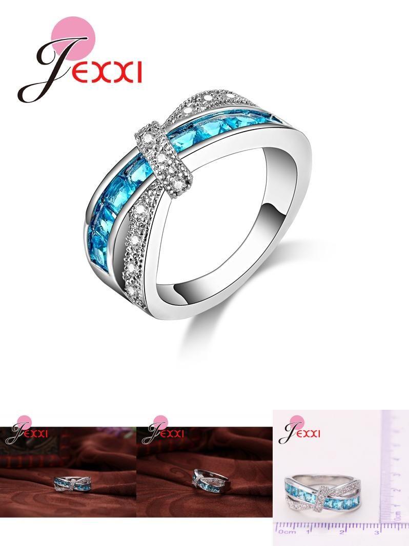 Visit to buy jexxi size women blue cz sterling silver