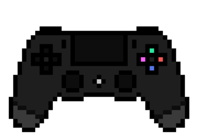 Ps4 Controller Pixel Art By Amaniness On Deviantart Pixel Art Cool Pixel Art Pixel
