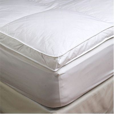 2 King Goose Down Mattress Topper Featherbed Feather Bed Baffled By Millsave 89 99 15 Elastic Skirting Around Entir Mattress Topper Feather Bed Mattress