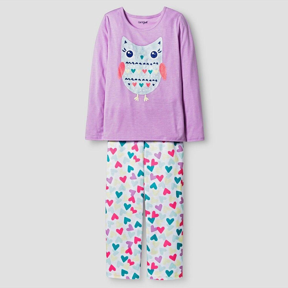 Target Baby Girl Clothes Unique Girls' Long Sleeve Pajama Set Cat & Jack  Owl Xs Girl's Purple Inspiration