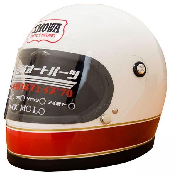 数量限定 カミナリ コラボ レトロフルフェイス 70 E4カラー オートバイ用品店ナップス Naps レトロ ヘルメット カミナリ