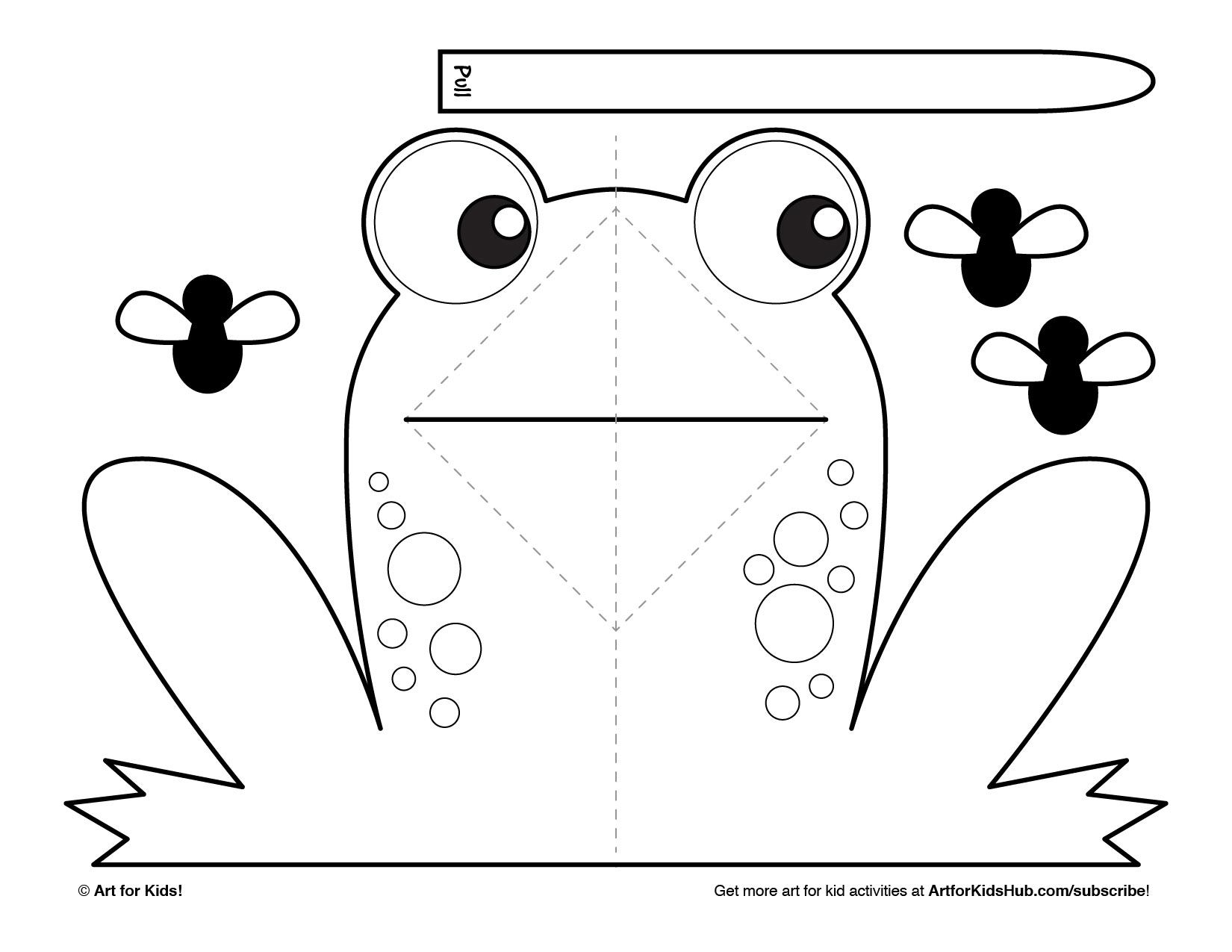 graphic relating to Printable Pop Up Cards identified as Straightforward Pop-Up Frog - Artwork For Children Hub - Frogs Artwork for children