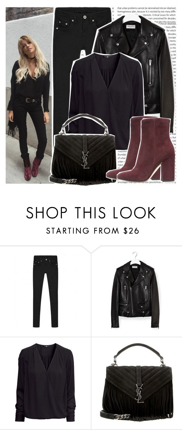 """#1390 Instagramer's: Madeleine Rose"" by valucarrots ❤ liked on Polyvore featuring Yves Saint Laurent, H&M and Gianvito Rossi"