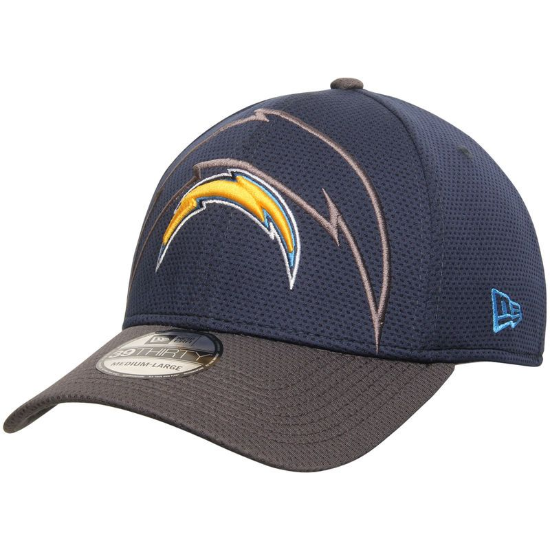 Los Angeles Chargers New Era Shadow Tech 39thirty Flex Hat Navy Los Angeles Chargers Chargers New Era
