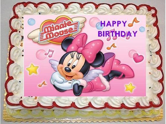 Astounding Walmart Cakes For Kids Birthday Cake Minnie Mouse Birthday Personalised Birthday Cards Bromeletsinfo