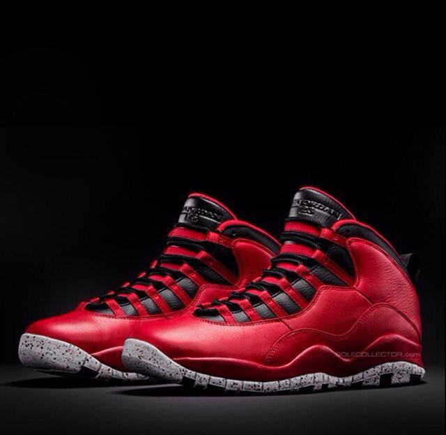 Red cement Jordan 10s. | Air jordans