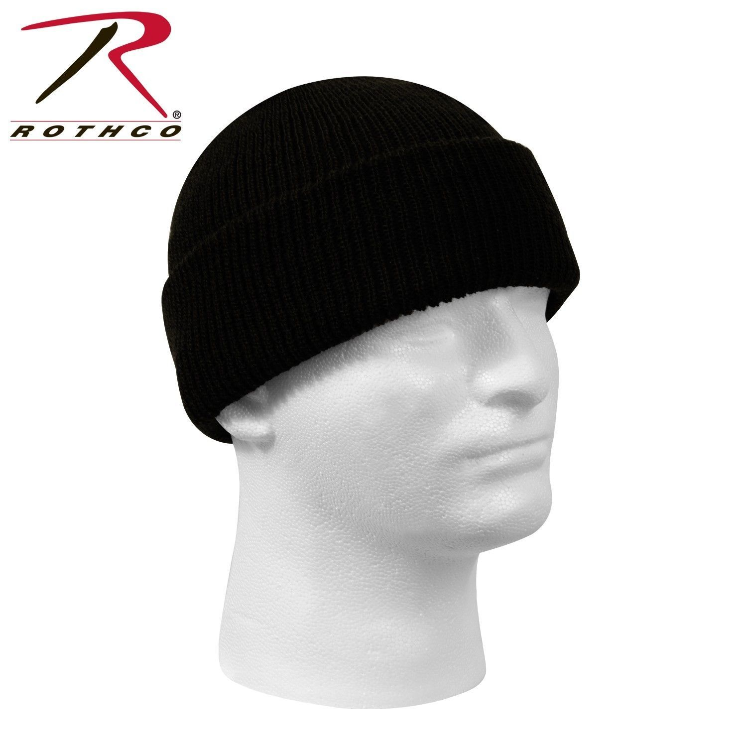 1af2defe8aa New Genuine Black Winter Beanie Hat Wool Watch Cap USA Made Rothco ...
