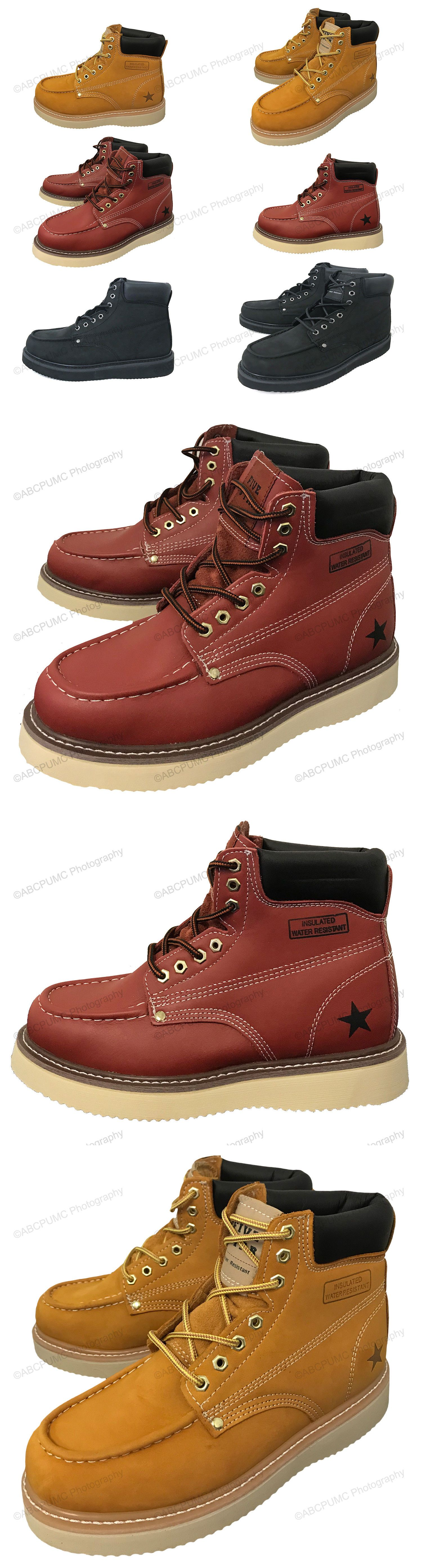 446aebb1cdd Casual Shoes 24087: Mens Moc Toe Boots 6 Leather Water Oil Resistant ...