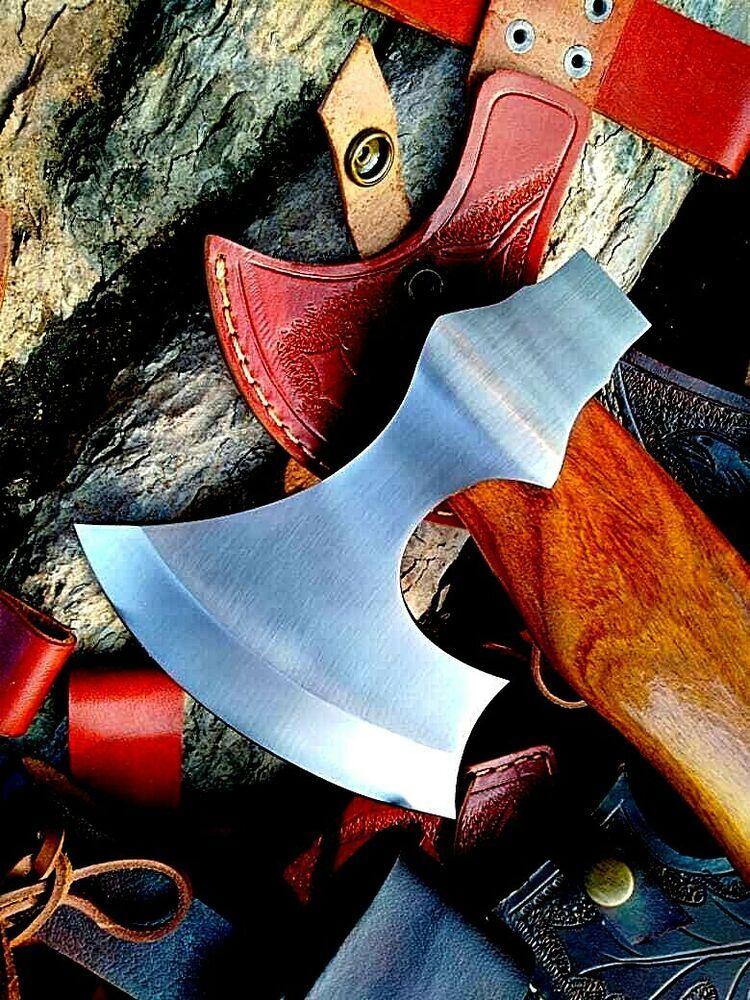 Mdm hand engraved tomahawk viking throwing axe combat