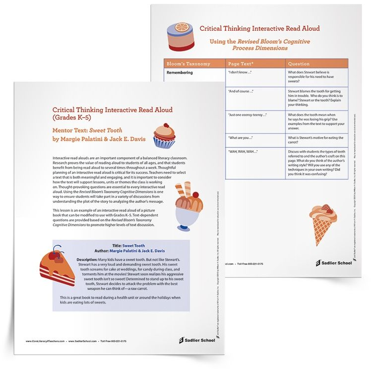 Download an interactive read aloud lesson template of Sweet Tooth by ...