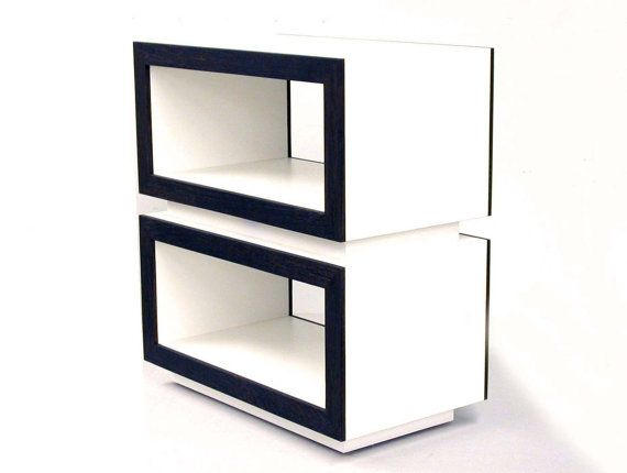 Modern Side Table End Table Modern Nightstand Console Entertainment Foyer Console  Modern Shelfs Storage Modern Media Console Entry Table