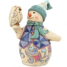 Wintertime Is A Hoot Jim Shore Snowman With Owl Figure