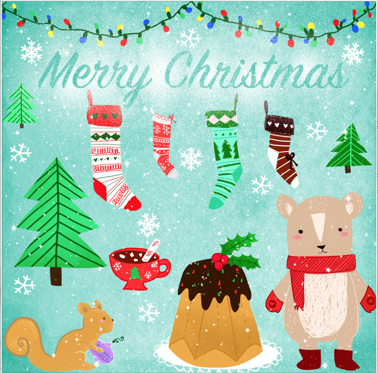 A Beautifully Cheerful Christmas Card Design From Emanuela Mannello The