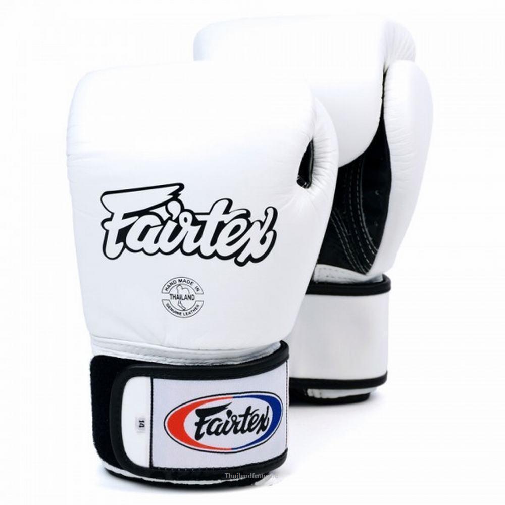 Fairtex Muay Thai Boxing BGV1 3-Tone White Gloves