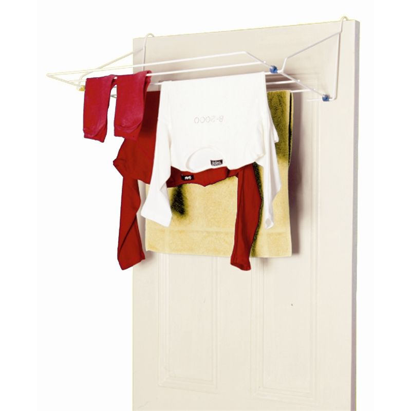 Ltw 5 Rail Over Door Clothes Airer Cleaning Closet Storage Laundry Mud Room