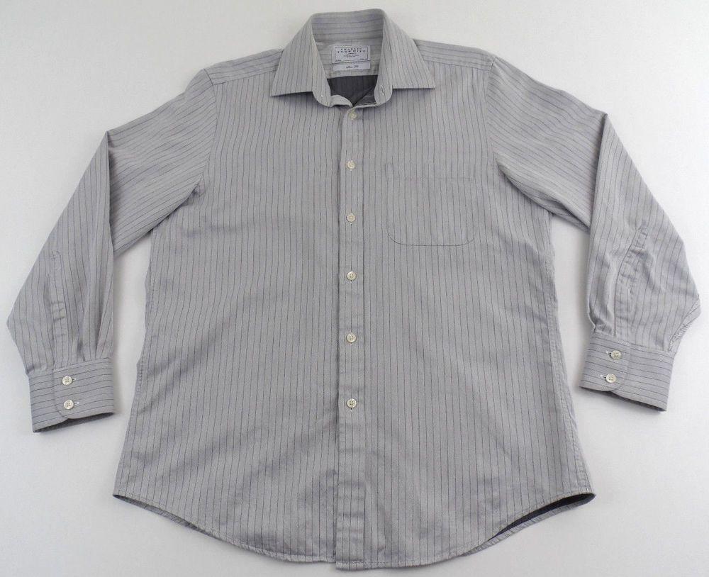 Charles Tyrwhitt blue slim fit plaid//checked shirt men/'s 16//33