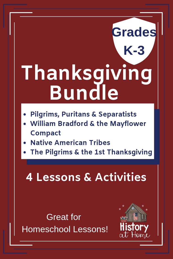 Photo of Thanksgiving Lessons & Activities Bundle for Homeschool Grades K-3
