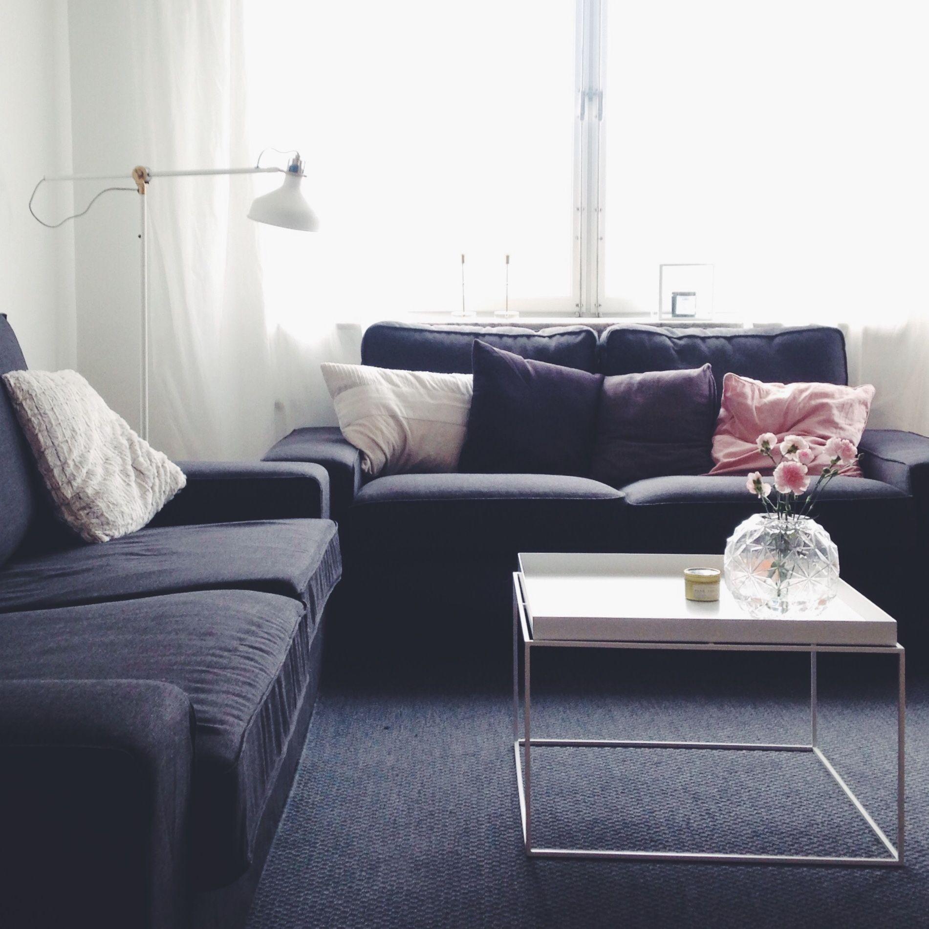 Hay tray table Ikea Kivik sofa Ranarp lamp