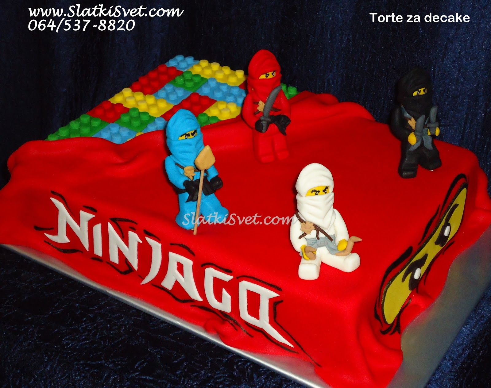 Torta ninjago lego ninjago birthday party for Ninjago zimmer deko