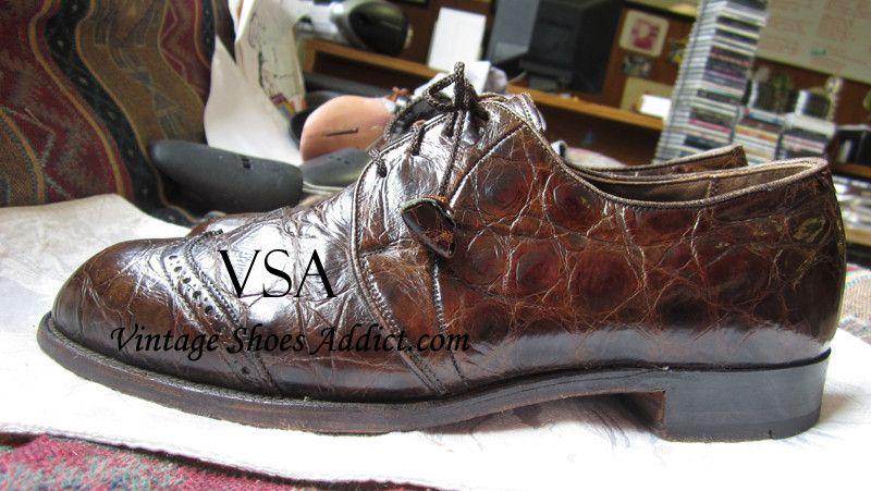 For Sale Vintage Alligator Shoes Best Of 1940 S 1960 S Vintage Shoes Shoes Dress Shoes Men