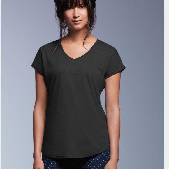 551551a810 Simple V neck t Shirt Tri blend fabric,, dark charcoal , black , white