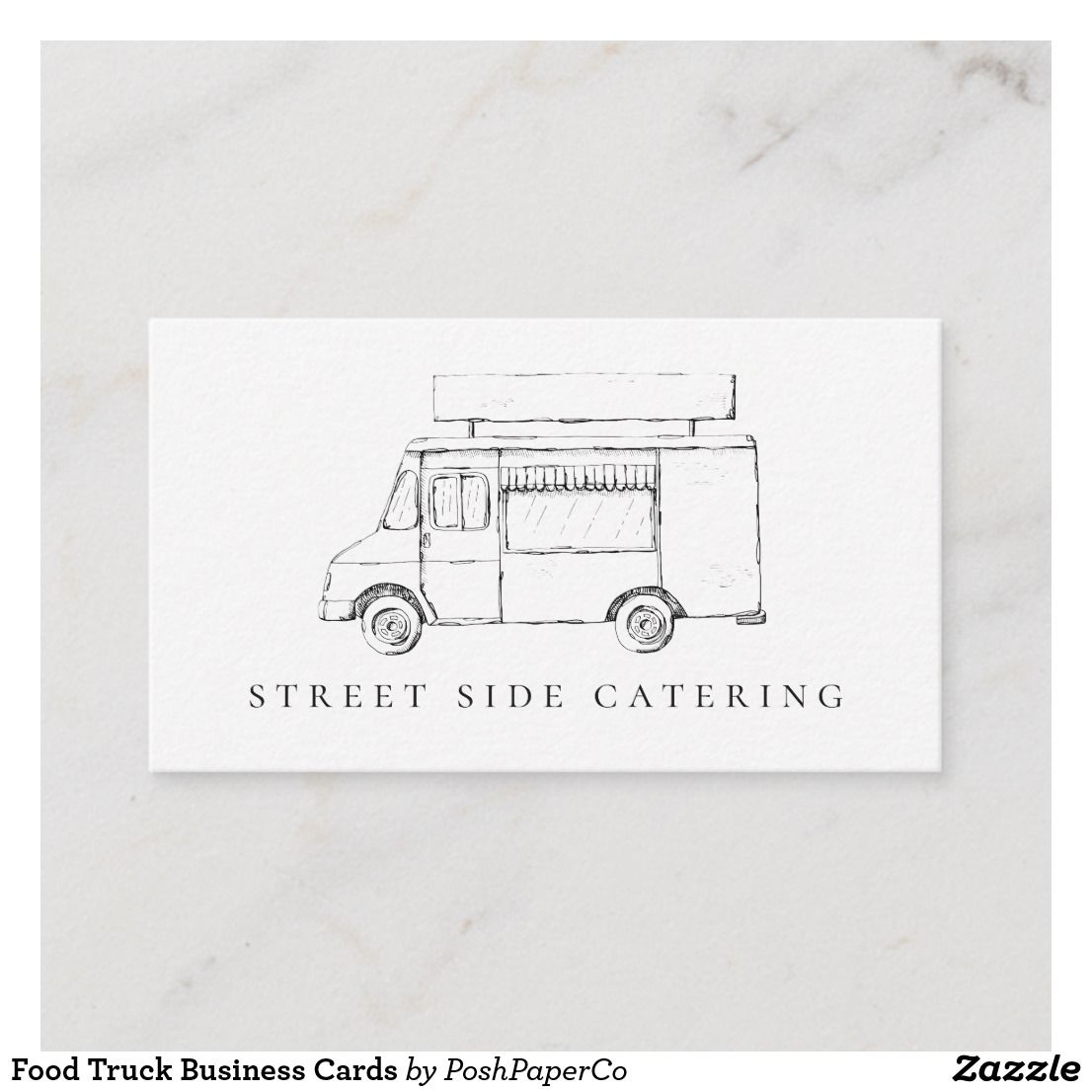 Food Truck Business Cards Zazzle Com Food Truck Business Food Truck Small Business Cards