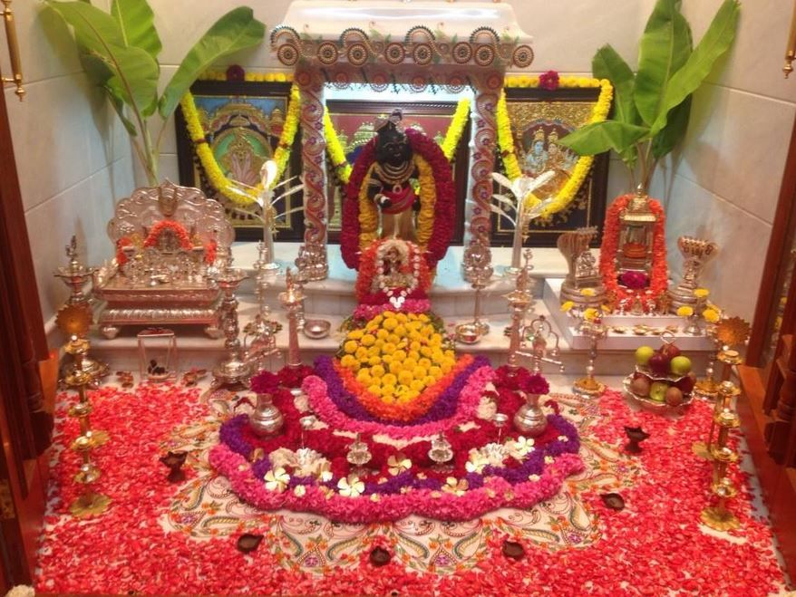 Ordinary Temple Decoration Ideas For Home Part - 12: Decoration Ideas For Krishna Janmashtami