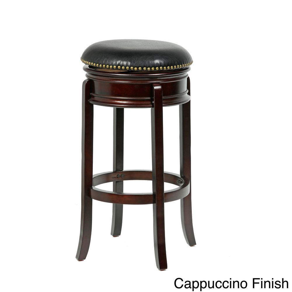 Bristol Swivel Bi Cast Leather 24 Inch Counter Stool