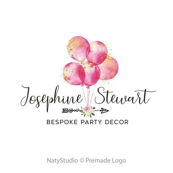 Premade logo design party decor logo photography logo boutique logo