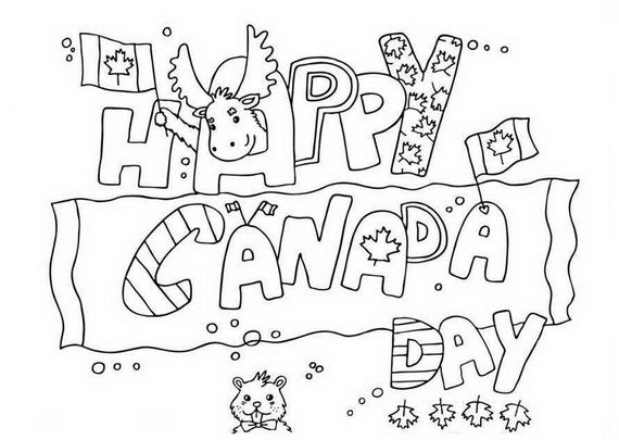 Canada Day Coloring Pages Happy Canada Day Canada Day Flag
