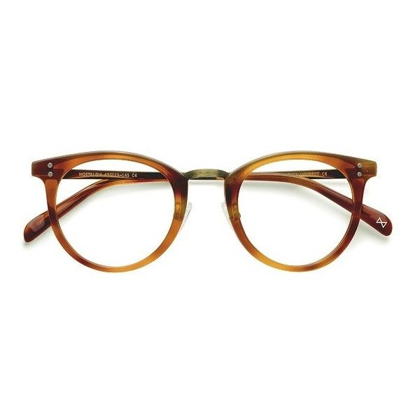 228b9d65eaa Women s Nostalgia - Cinnamon round metal - 15903 Rx Eyeglasses ( 70) ❤  liked on Polyvore featuring accessories