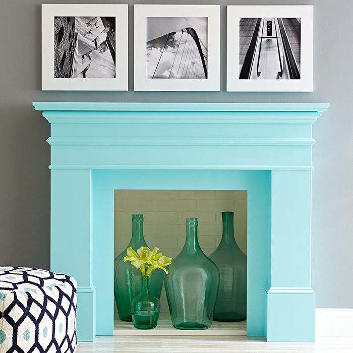 Revive a tired or dated fireplace mantel with a fresh - Decorating a beach house on a shoestring ...