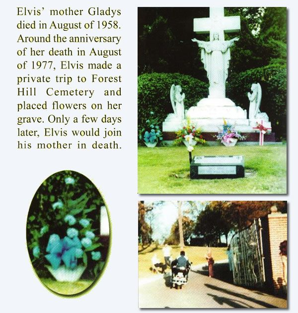 Elvis returning to Graceland after paying respects to his mother at Forest Hill Cemetery on Aug 11, 1977..........lbxxx