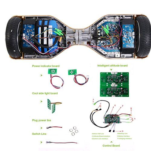 quanmin universal hoverboard two wheel car self balancing controllerquanmin universal hoverboard two wheel car self balancing controller board smart electric scooter accessory motherboard balance trainers car parts led