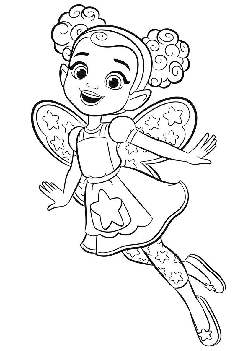 Dazzle High Quality Free Coloring From The Category Butterbean S Cafe More Printable Pictur Cartoon Coloring Pages Cute Coloring Pages Fairy Coloring Pages