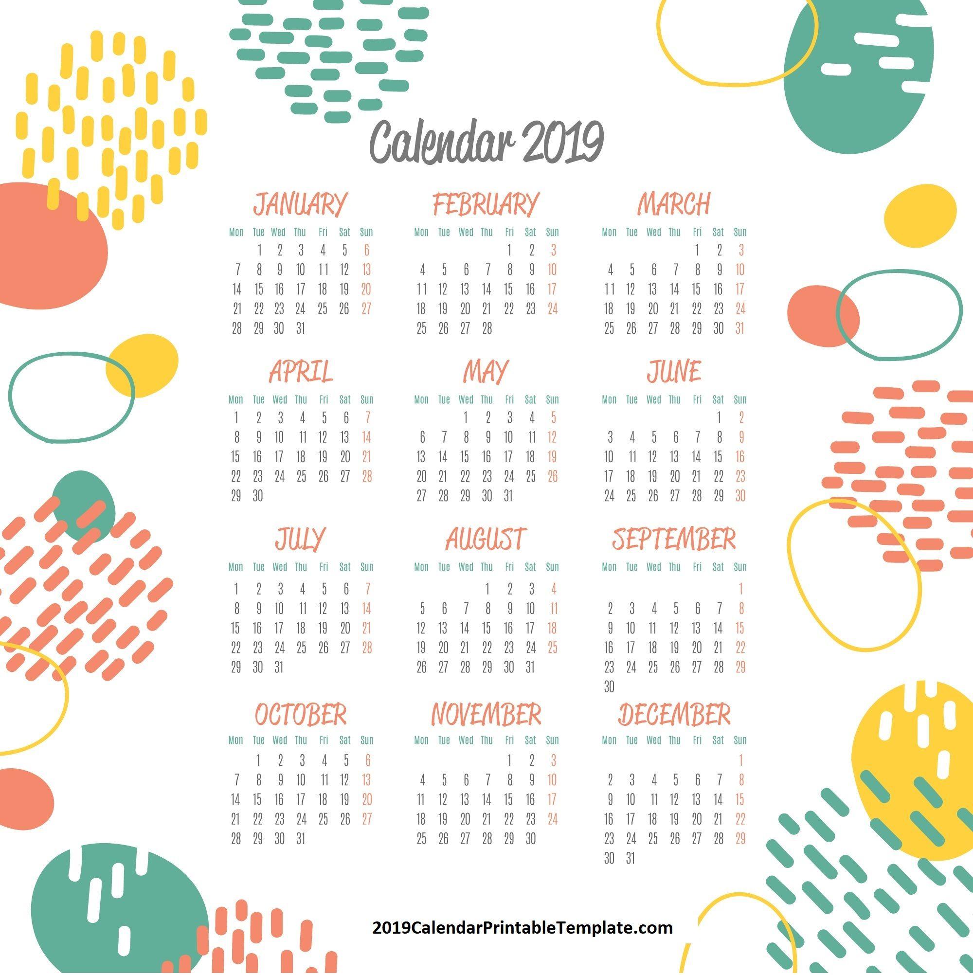 Pin By 2019calendarprintabletemplate On 2019 Calendar Printable